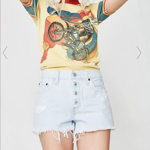 Levi's 501 Exposed Button Fly Denim Shorts